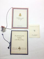 Cunard Line R.M.S Lancastria 4th Of July Lunch & Dinner Menu 1929