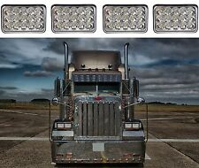 "(4) 4x6"" 45W LED Headlights For Kenworth Peterbilt Freightliner New Free Ship"