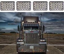 "(4) 4x6"" 45W LED Headlights For Kenworth Peterbilt Freightliner New Free Ship"
