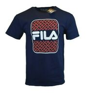 FILA MENS T SHIRT M L XL LOGO ATHLETIC SPORTS APPAREL GRAPHIC TEE BLUE RED NEW