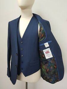 Men's Suited & Booted Slim Fit Suit in Navy 3pc ...Ref 7674