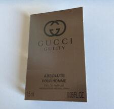 NEW - Gucci Guilty Absolute Pour Homme Eau De Parfum Edp Sample 1,5ml 0.05oz
