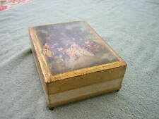 """Vintage Reuge Music Jewelry Box Swiss Muscial Movement """"Love Many Spendid Thing"""""""