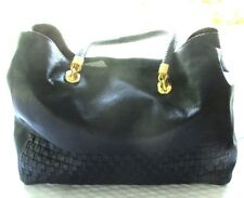 COLE HAAN  LEATHER LARGE SIZE TOTE  PURSE W/ BRAIDED STRAP W/ DUST BAG NWT