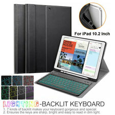 "For iPad 10.2"" 7th Gen 2019 Case TPU Cover w/ 7 Color Backlit Bluetooth Keyboard"