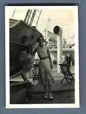 "Bernard Lefebvre, France, Le Havre, Mme. C. Léon à bord du navire ""Le France""  V"