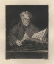 Edward Manet The Fault - etching Antique Charles Joined Xixth