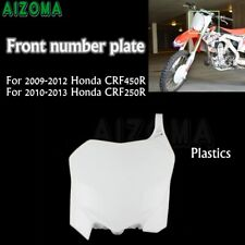 Front Number Plate Fit Honda CRF250R CRF450R Motorcycle Enduro Dirt Bikes White