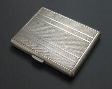 Antique Solid 800 Silver Cigarette Small Business Card Holder Case Art Deco
