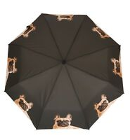 French Bulldog Frenchie Dog Folding Brolly Umbrella - Auto Open + Pouch
