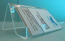 Porta biglietti da visita in plexiglass trasparente misura L.100 mm.
