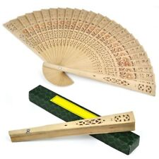Ladies Wooden Sandalwood Hand Fan Wedding/ Birtays Partys C6D6