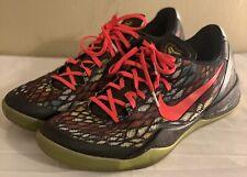 Nike Zoom Kobe 8 VIII System Christmas Red Green 555035-030 Men's Size 13