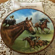 Famous Racehorse Plate The Minstrel Danbury Mint Royal Worcester + Certificate