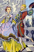 Belle LITHOGRAPHIE danse ancienne La Gaillarde par André HOFER
