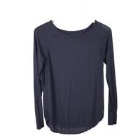 GAP Pure Body Raglan Long Sleeve T-Shirt Size S Blue Soft Knit Crew Neck Top