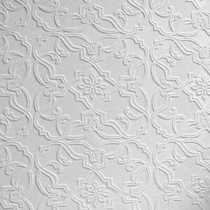 Anaglypta Textured Maxwell White Paintable Vinyl Wallpaper Luxury RD0671