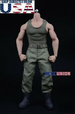 1/6 Men Combat Tank Top Pants Set A For PHICEN M33 M34 Hot Toys Muscular Figure