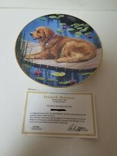 Danbury Mint Collector Plate Dockside Retriever Patricia Bourque 23Kt Gold Trim