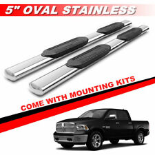 """5"""" Chrome Running Boards  Side Bars For 2009-2017 Dodge Ram 1500 Crew Cab"""
