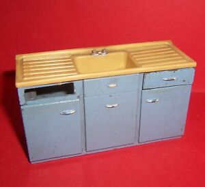VINTAGE DOLLS HOUSE TRIANG SPOT ON KITCHEN SINK 1960's LUNDBY SCALE