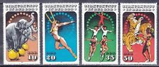Germany DDR 2511-14 MNH OG 1985 CIRCUS Poster ART Full Set Very FIne