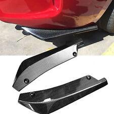 Carbon Fiber 2PCS Rear Bumper Lip Diffuser Splitter Canard Protector Accessories
