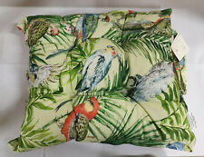Style Furnishings Oxford Seat Pad Parrot Bird Orange Jungle Design FREE DELIVERY