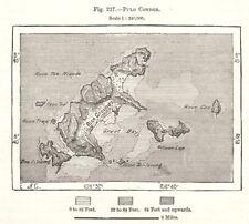 Con Son. Vietnam. Sketch map 1885 old antique vintage plan chart