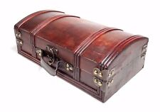 Medium Wooden Vintage Style Storage Box Case Organiser Treasure Chest nr2
