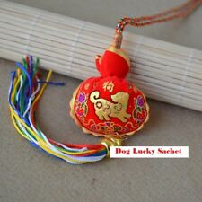 Dog Gold Sachet zodiac hanging Chinese new year luck fortune knot decoration new