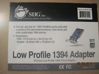 SIIG Low Profile 1394 Firewire 3-port Adapter PCI-bus LP-N21011-S8