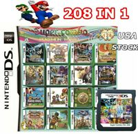 208 in 1 Video Games Card Cartridge Multicart For DS NDS NDSL NDSI 2DS 3DS USA