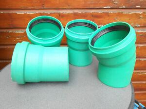 NEU 4 x KG 2000 Bogen 30° 15° DN 150/160 Rohr Abwasserrohr Regenrohr Kanalrohr