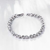 """Menton Ezil """"Love Encounter"""" Women Silver Bracelet Swarovski Bangle Jewelry"""