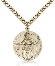 "Saint Nino De Atocha Medal For Men - Gold Filled Necklace On 24"" Chain - 30 D..."