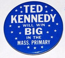 1980 TED KENNEDY MASSACHUSETTS campaign pin pinback button political president