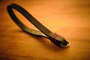 C.K Mike Handcrafted camera wrist strap with ring (color brown or black)