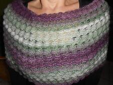 Superbe Cache épaules/Chauffe épaules multicolore tricoté main neuf