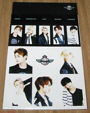 SHINee 2014 CONCERT WORLD Ⅲ 3 IN SEOUL SM OFFICIAL GOODS STICKER SET NEW
