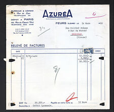"FEURS (42) APPAREILS de CHAUFFAGE à ALCOOL , ESSENCE & PETROLE ""AZUREA"" en 1950"