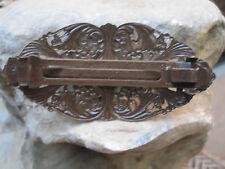 Victorian Filigree Antiqued Brass Gold Finish French Clip Barrette NEW USA 015