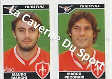 N°637 BIANCHI - PECORARI # ITALIA US.TRIESTINA STICKER PANINI CALCIATORI 2005