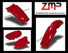 NEW HONDA XR75 77 - 78 FIGHTING RED PLASTIC FRONT REAR FENDER SIDE PANELS KIT