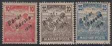 HUNGARY SERBIAN OCC BANAT, BACSKA Sc 10N22-10N24 HINGED MINT VF SCV$97.50