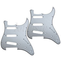 2Pcs Aluminum Electric Guitar Pickguard Plate for Fender Strat Parts SSS 11 Hole