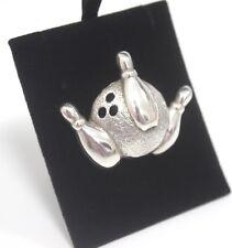 Brooch 925 Unusual Ten Pin Bowling Silver Jewellery 11g Ladies Elegant Gift