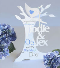 Personalised 3.D Popup Paper Cut Wedding/Anniversary Card.