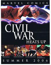 Civil War Commemorative Collector's Tickets(2) & Mini Poster 2006 Marvel Comics