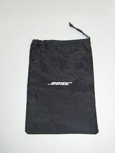 "NEW Genuine Bose Headphone Carrying Case Nylon Bag 13"" x 9"" Drawstring Soft Bag"